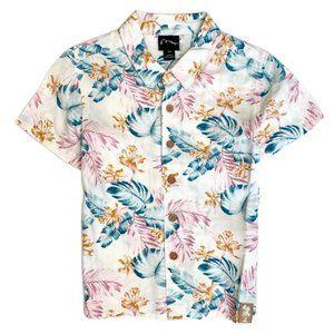 Toddler Boys Tropical Button Down Collar Shirt